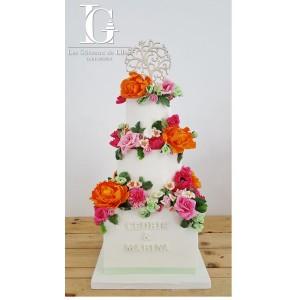 Wedding cake avec Les Gâteaux de Lilou