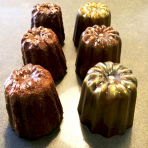 Cannelés and nougatine