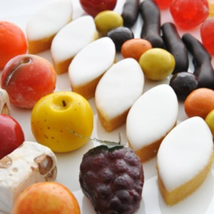 Sweets : calissons, marshmallows and fruit jellies