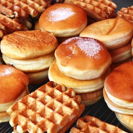 Gaufres, beignets et pâte à tartiner